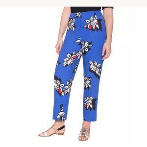 Eloquii crepe floral printed pants
